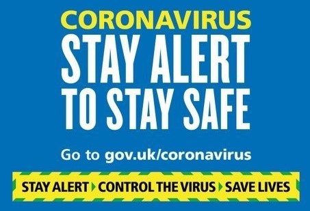 "a government poster about coronavirus stating ""Stay alert to stay safe"""