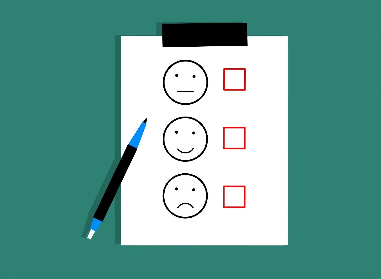 an illustration of a feedback form