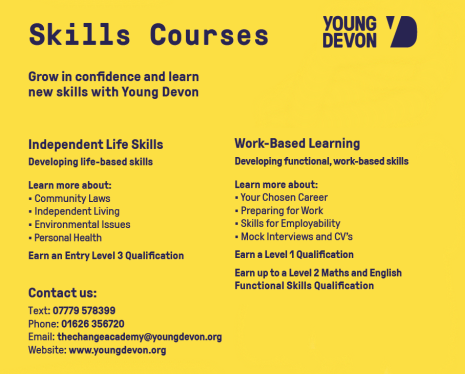 Young Devon skills courses