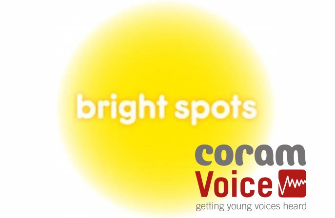 The Coram Voice and Bright Spots logos
